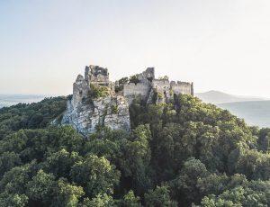 Fotografovanie dronom na hrade Gýmeš