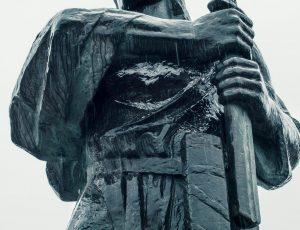 Fotografovanie sochy Pribinu v Nitre