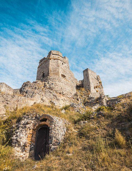 Fotografovanie zrúcaniny Levického hradu