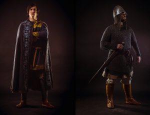 Fotografovanie dobových oblekov v štúdiu