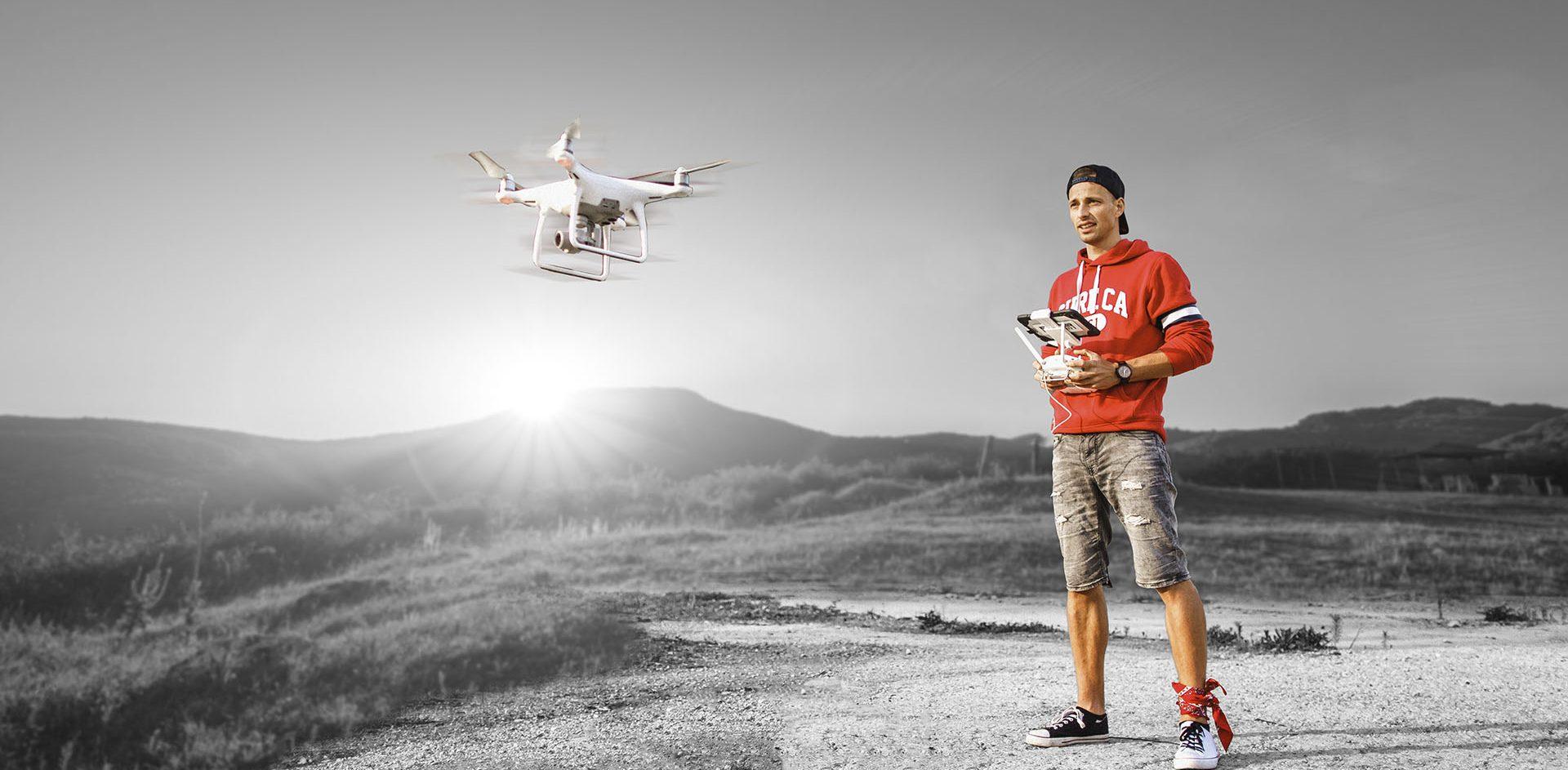 Letecké zábery dronom legálne